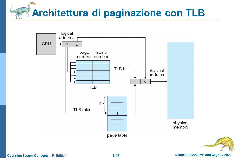 Architettura di paginazione con TLB