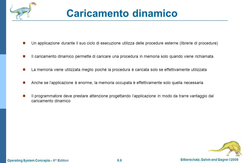 Caricamento dinamico Un applicazione durante il suo ciclo di esecuzione utilizza delle procedure esterne (librerie di procedure)