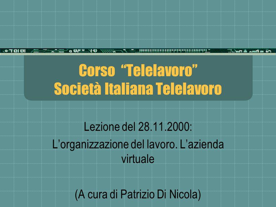 Corso Telelavoro Società Italiana Telelavoro