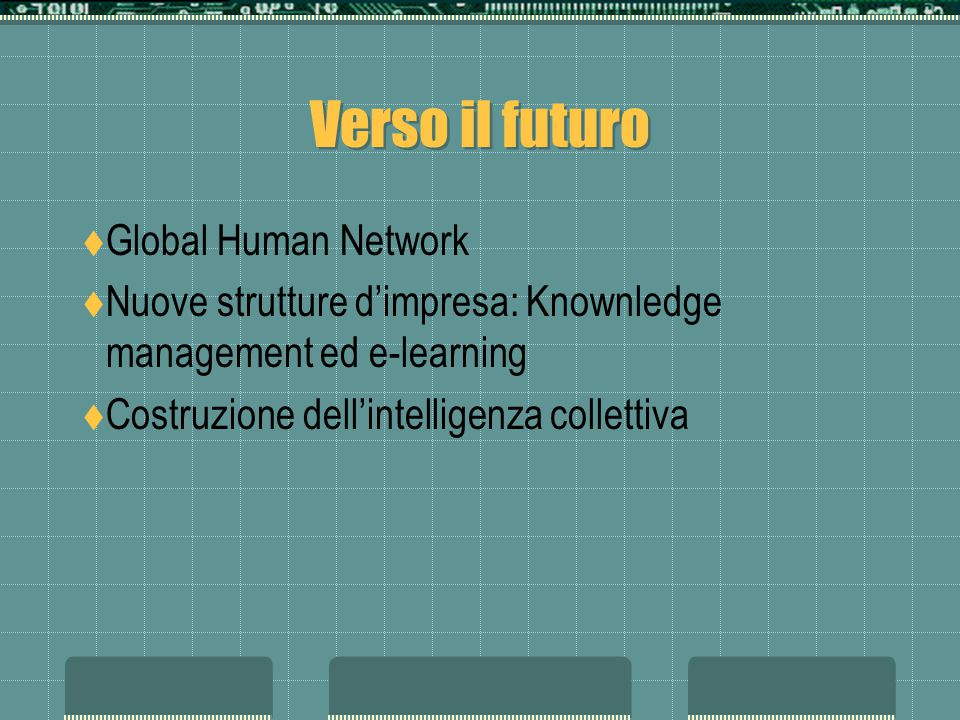 Verso il futuro Global Human Network