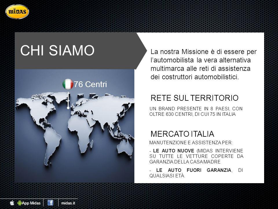 CHI SIAMO 76 Centri RETE SUL TERRITORIO MERCATO ITALIA