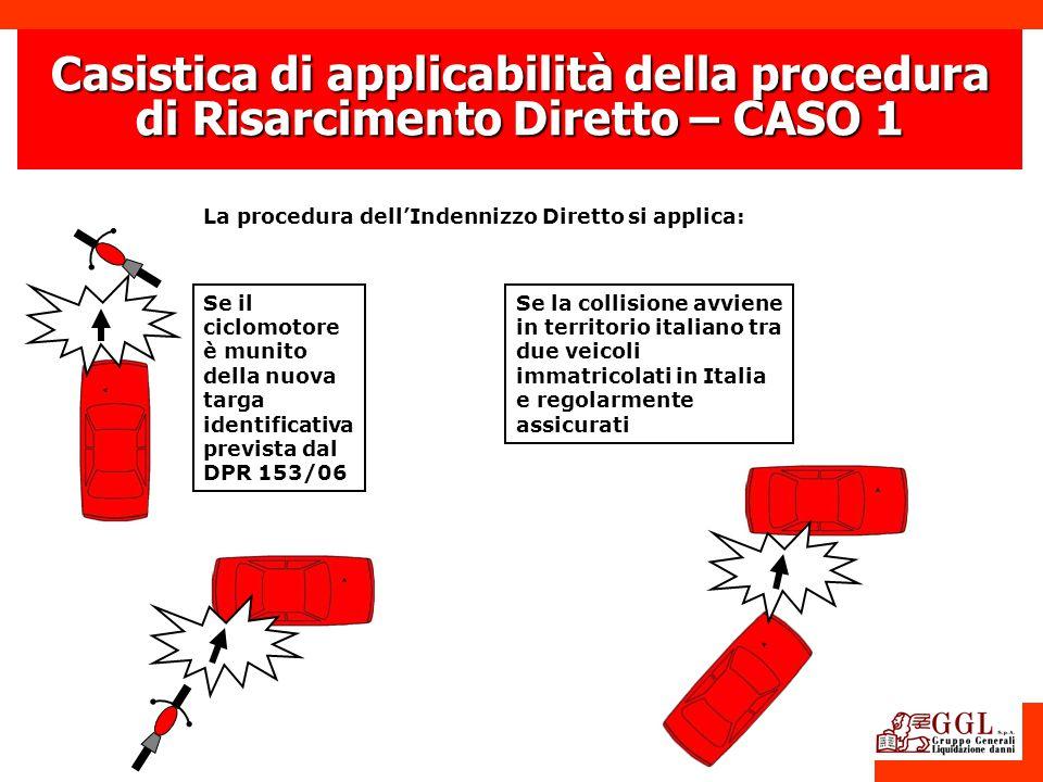 Casistica di applicabilità della procedura di Risarcimento Diretto – CASO 1