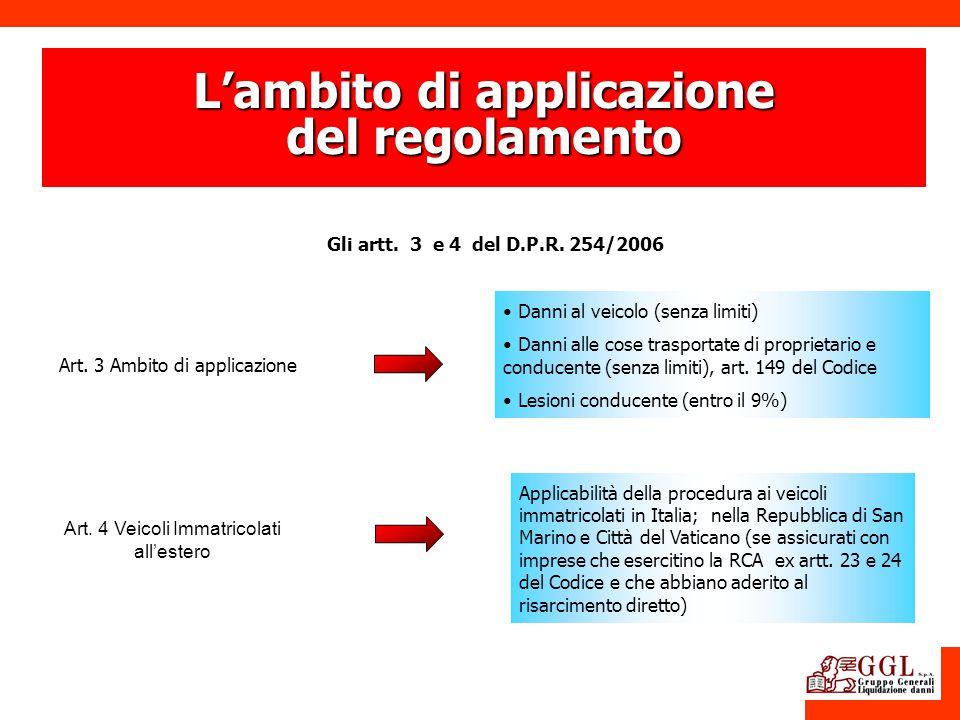 L'ambito di applicazione del regolamento