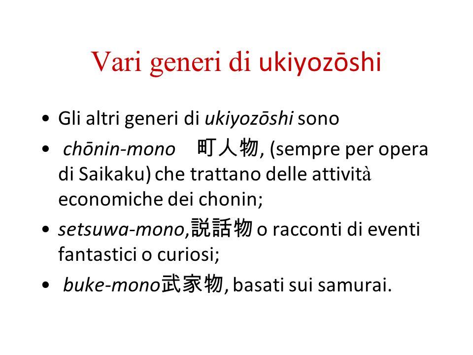 Vari generi di ukiyozōshi