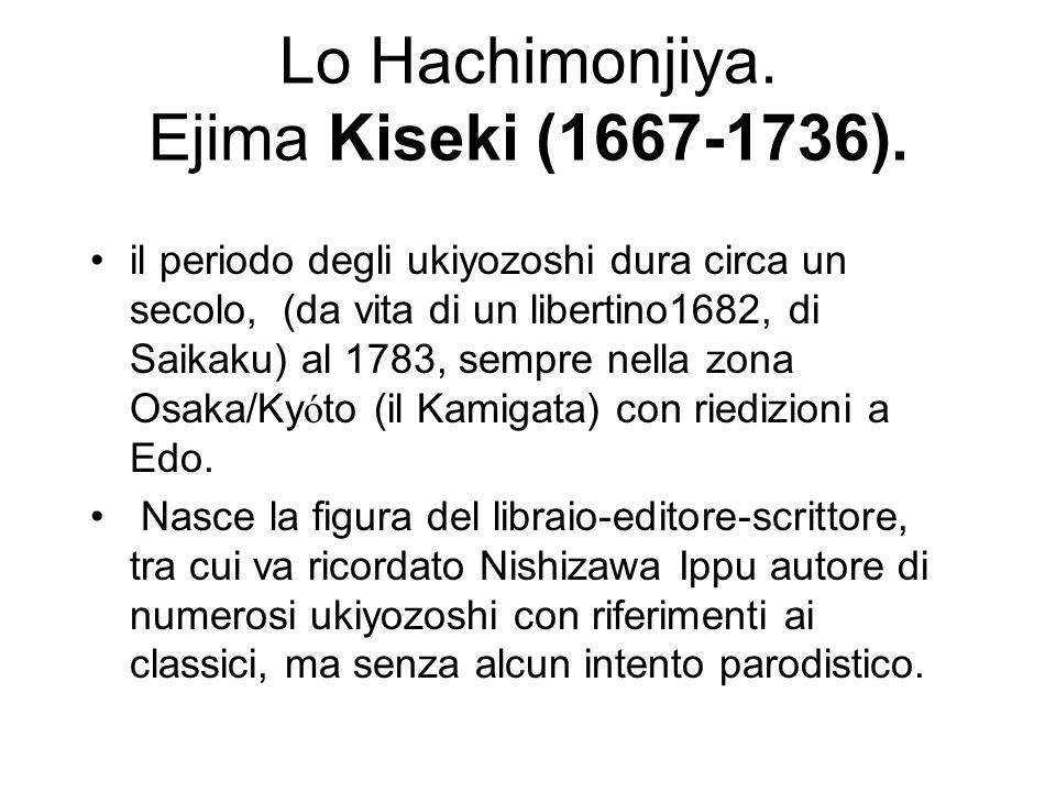 Lo Hachimonjiya. Ejima Kiseki (1667-1736).