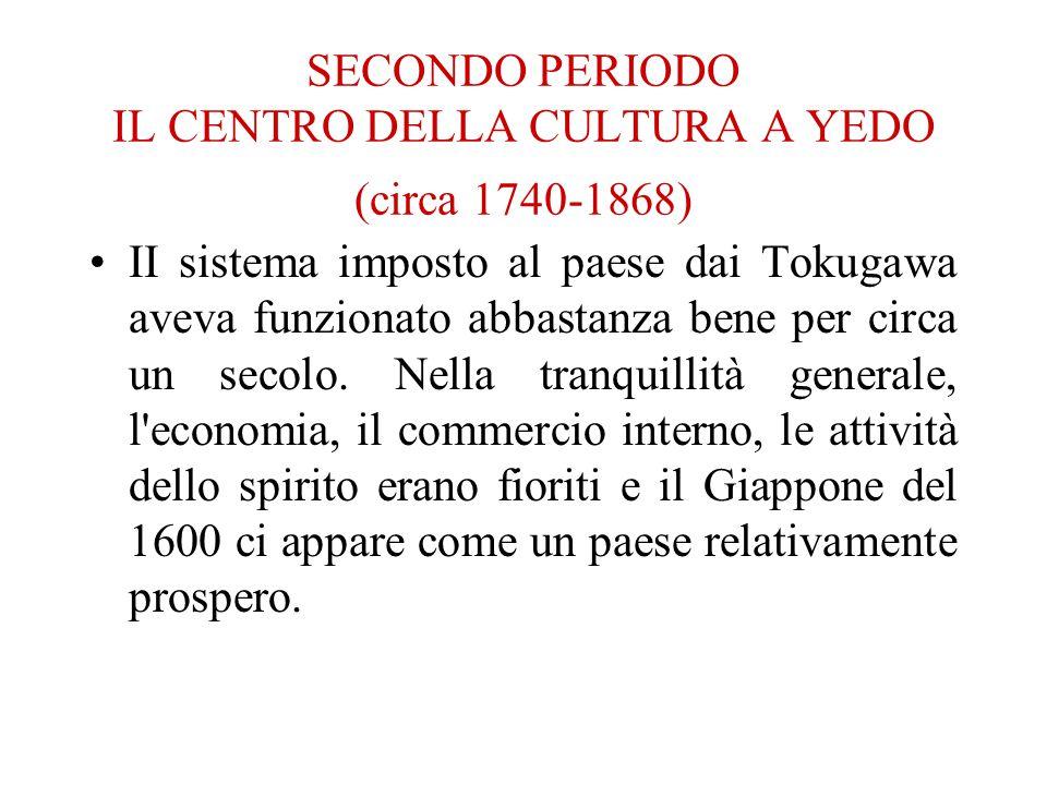 SECONDO PERIODO IL CENTRO DELLA CULTURA A YEDO (circa 1740-1868)