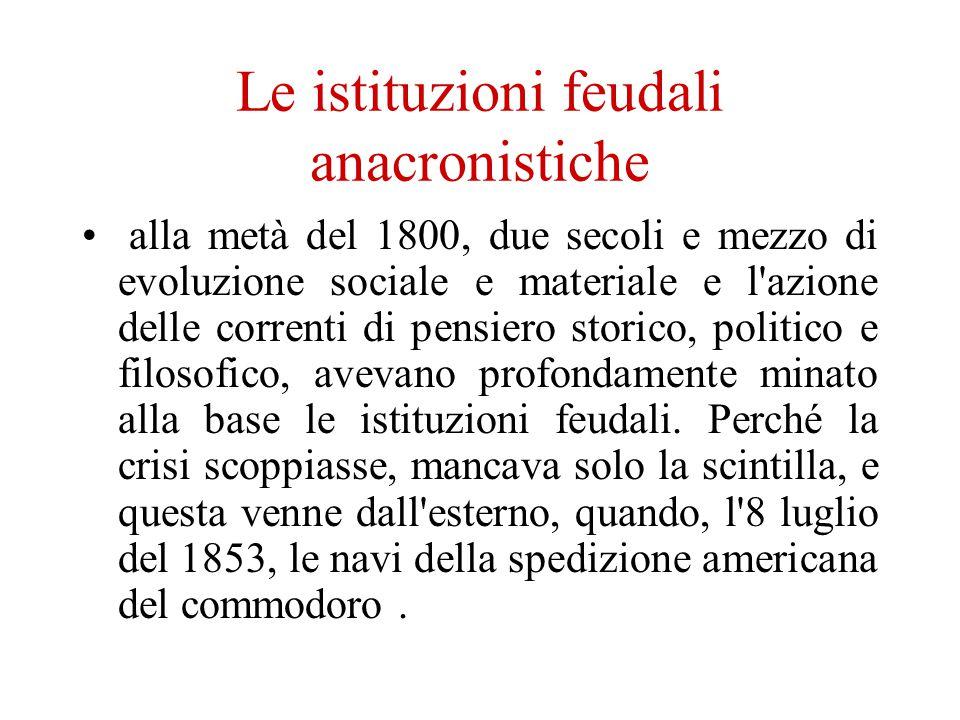 Le istituzioni feudali anacronistiche