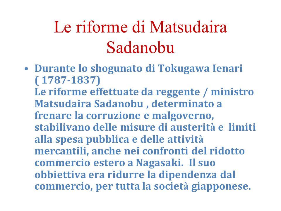 Le riforme di Matsudaira Sadanobu