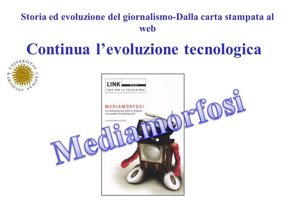 Storia ed evoluzione del giornalismo-Dalla carta stampata al web