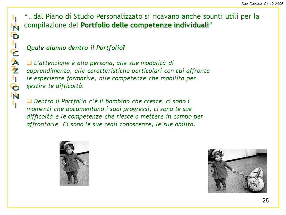 ..dal Piano di Studio Personalizzato si ricavano anche spunti utili per la compilazione del Portfolio delle competenze individuali