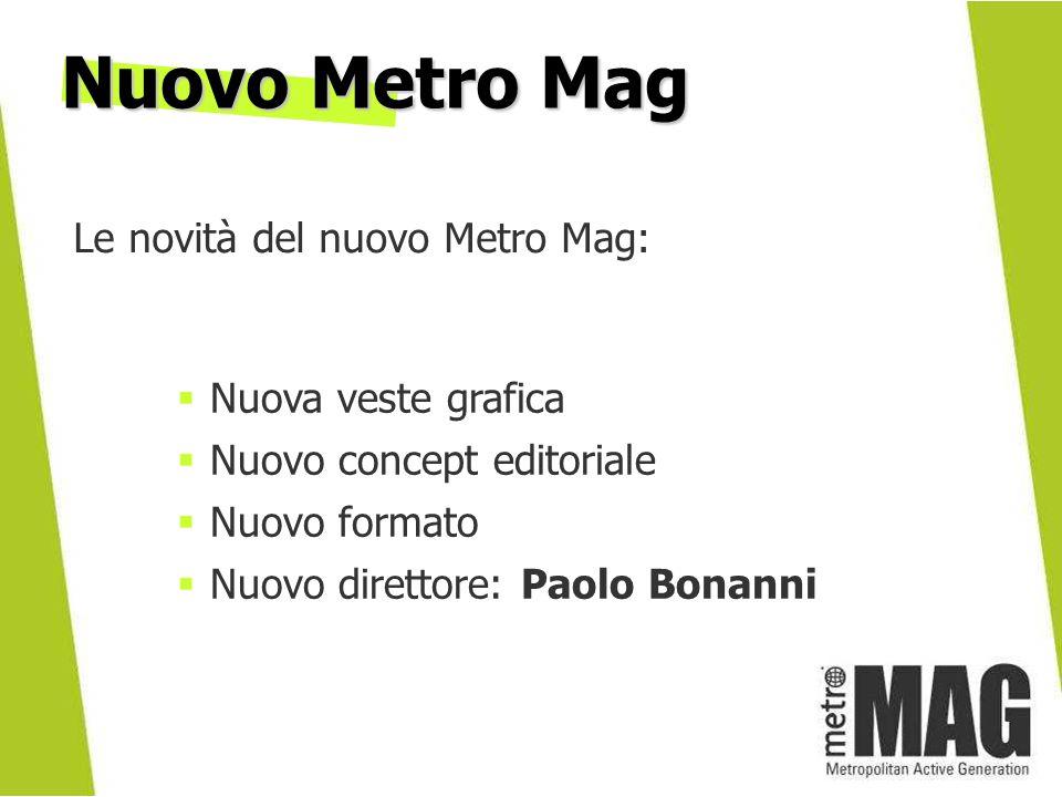 Nuovo Metro Mag Le novità del nuovo Metro Mag: Nuova veste grafica