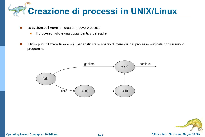 Creazione di processi in UNIX/Linux