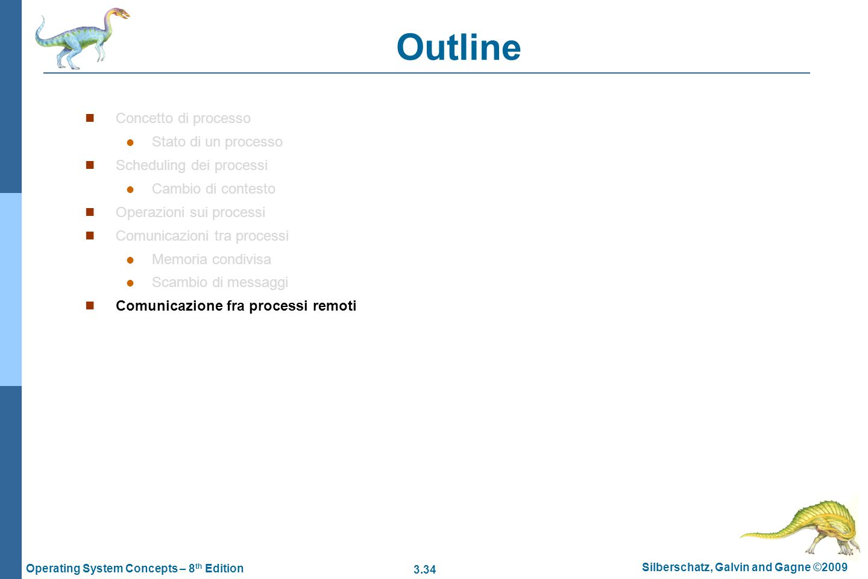 Outline Concetto di processo Stato di un processo