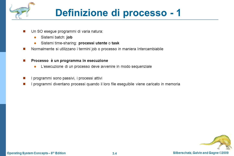 Definizione di processo - 1