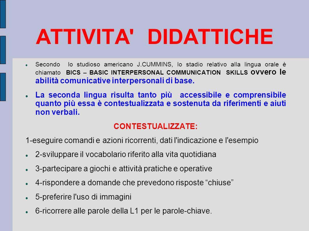 ATTIVITA DIDATTICHE