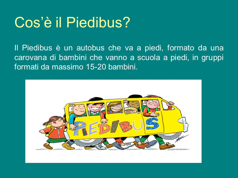 Cos'è il Piedibus