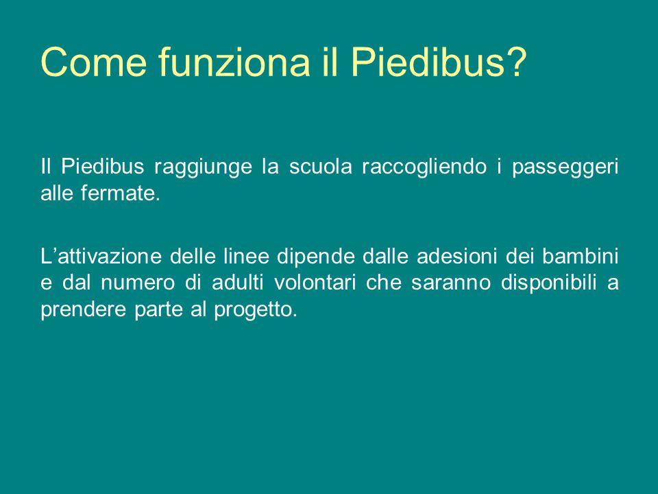 Come funziona il Piedibus