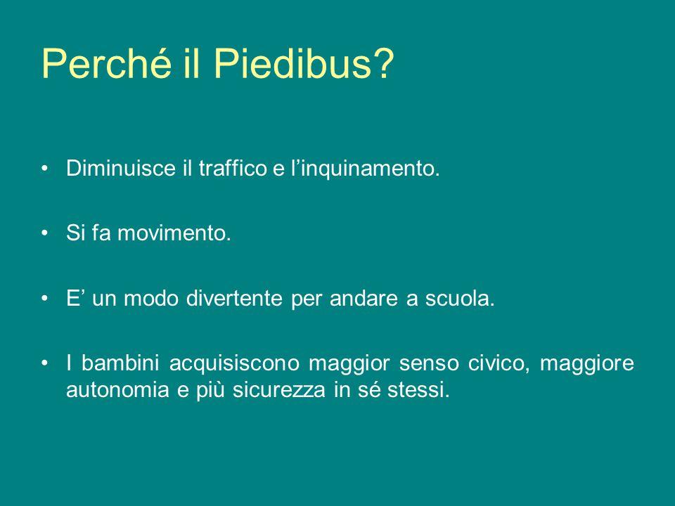 Perché il Piedibus Diminuisce il traffico e l'inquinamento.