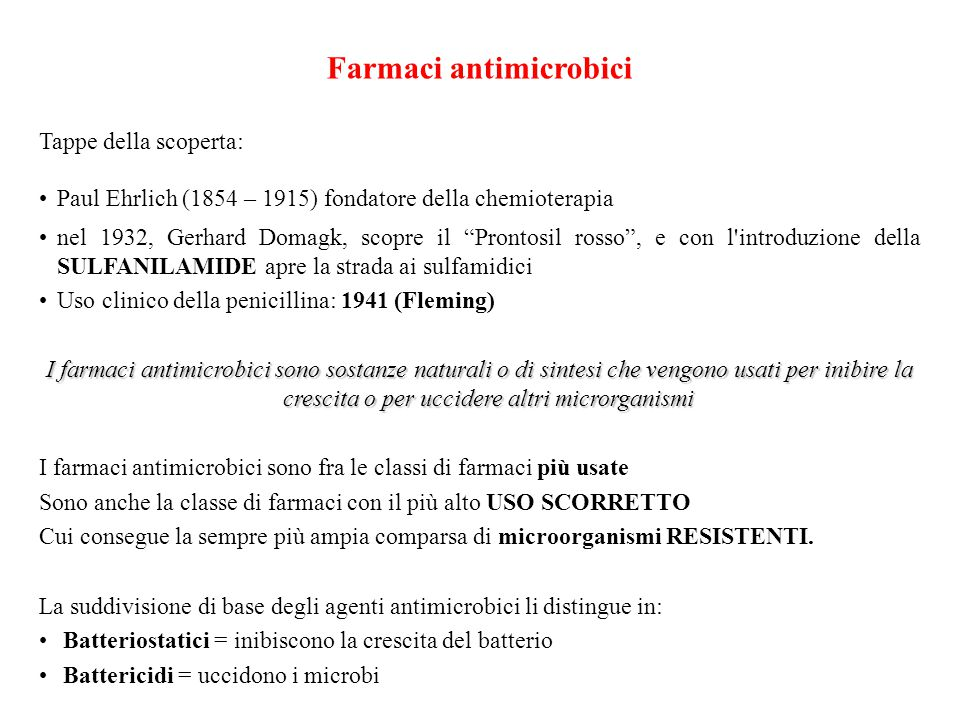 Farmaci antimicrobici