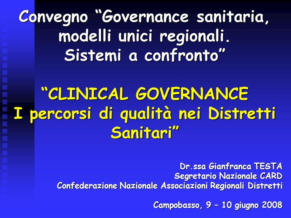 Convegno Governance sanitaria, modelli unici regionali