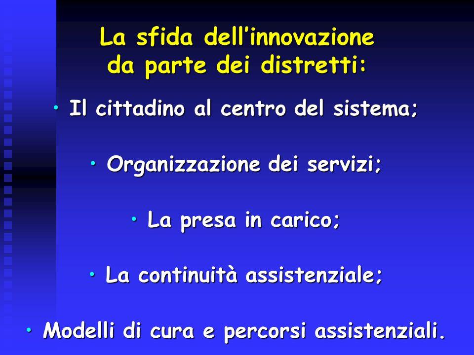 La sfida dell'innovazione da parte dei distretti: