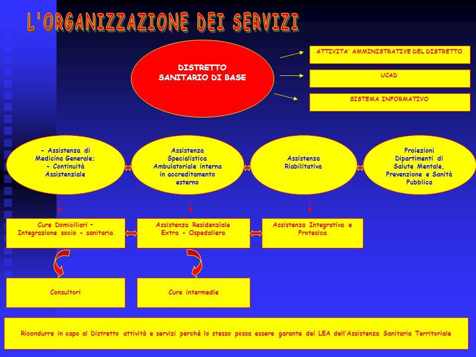 L ORGANIZZAZIONE DEI SERVIZI