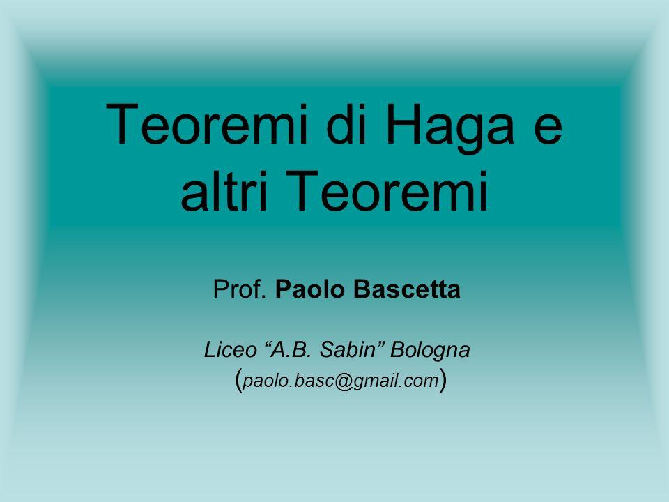 Teoremi di Haga e altri Teoremi