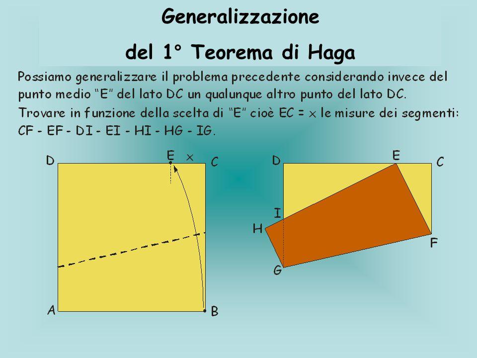 Generalizzazione del 1° Teorema di Haga