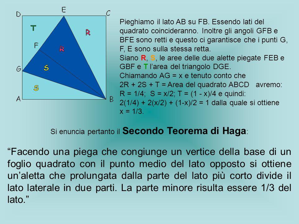 Si enuncia pertanto il Secondo Teorema di Haga: