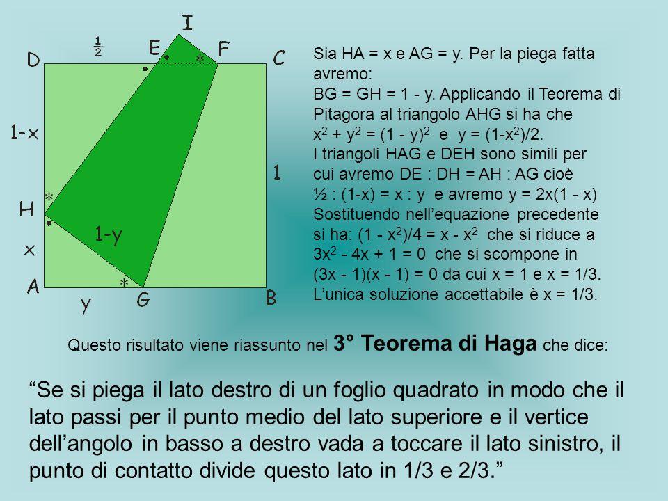 Questo risultato viene riassunto nel 3° Teorema di Haga che dice: