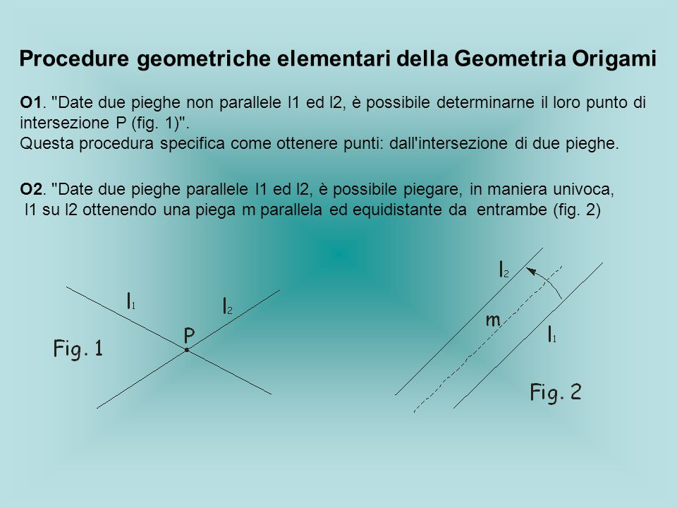 Procedure geometriche elementari della Geometria Origami