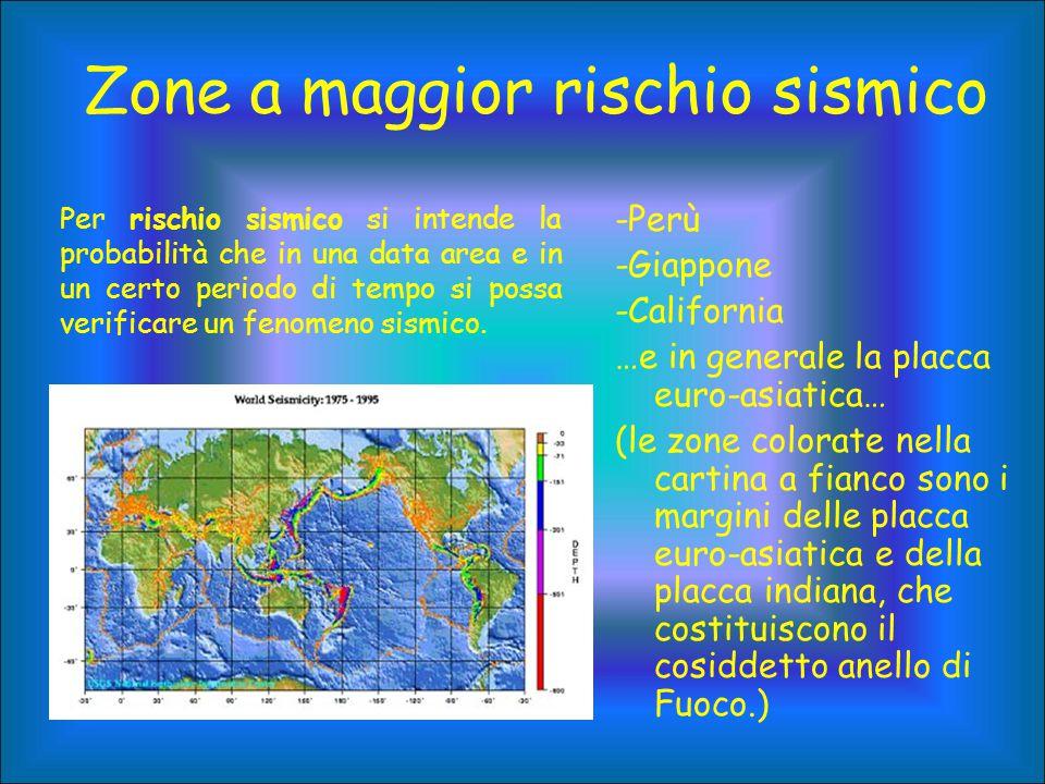 Zone a maggior rischio sismico