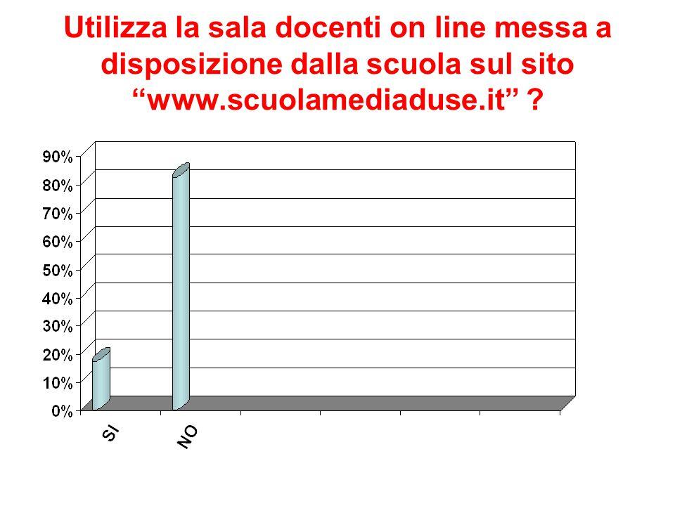 Utilizza la sala docenti on line messa a disposizione dalla scuola sul sito www.scuolamediaduse.it