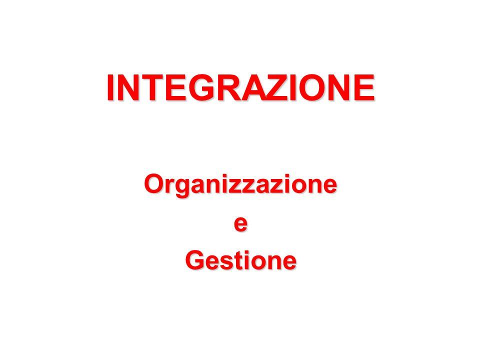 INTEGRAZIONE Organizzazione e Gestione