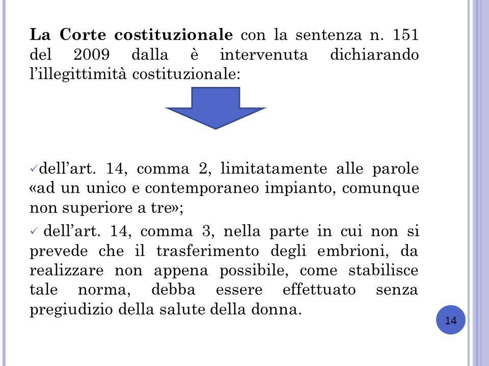 La Corte costituzionale con la sentenza n
