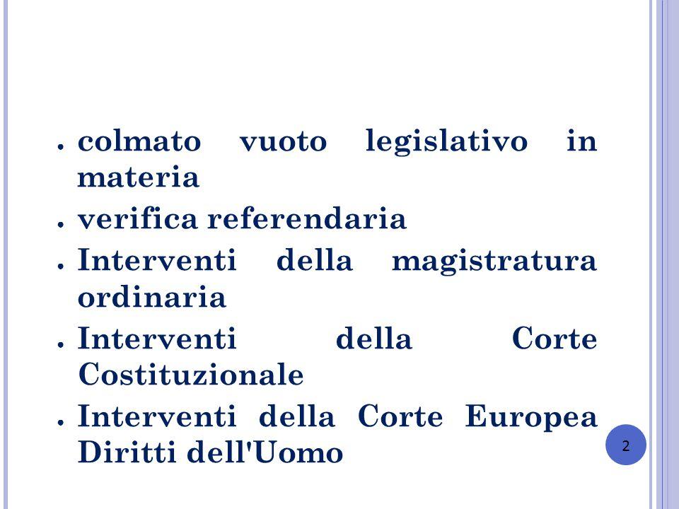 colmato vuoto legislativo in materia verifica referendaria