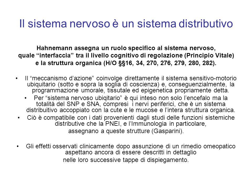 Il sistema nervoso è un sistema distributivo