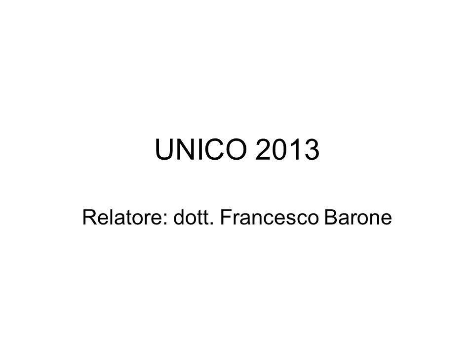 Relatore: dott. Francesco Barone