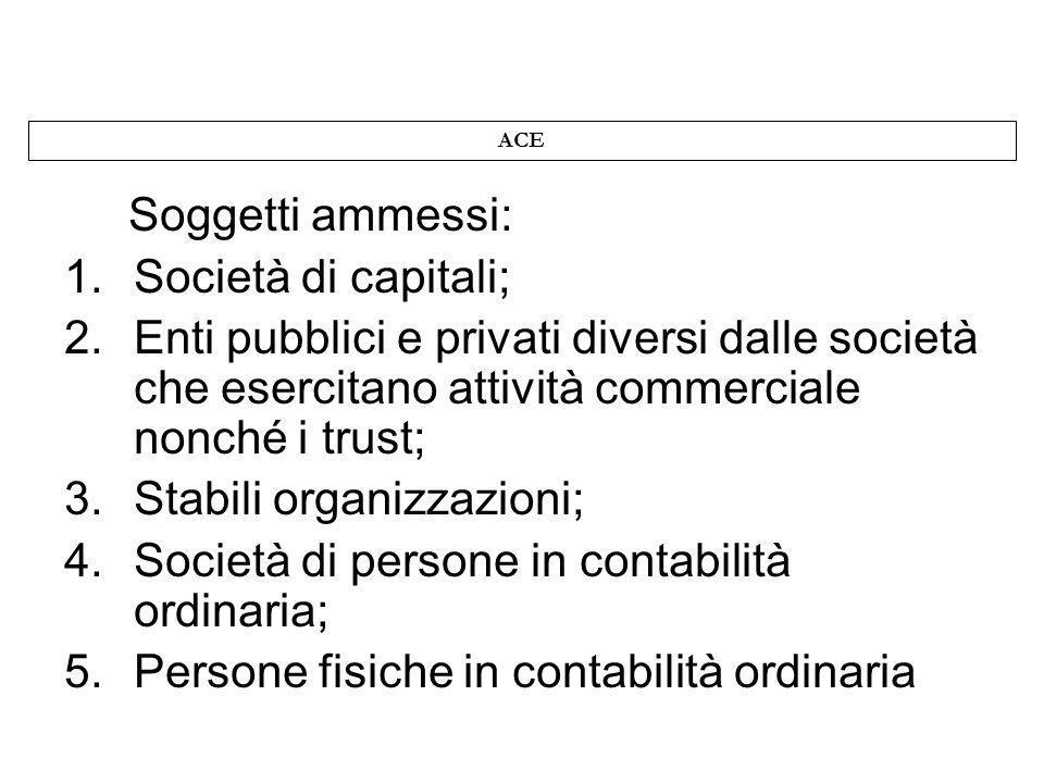 Stabili organizzazioni; Società di persone in contabilità ordinaria;