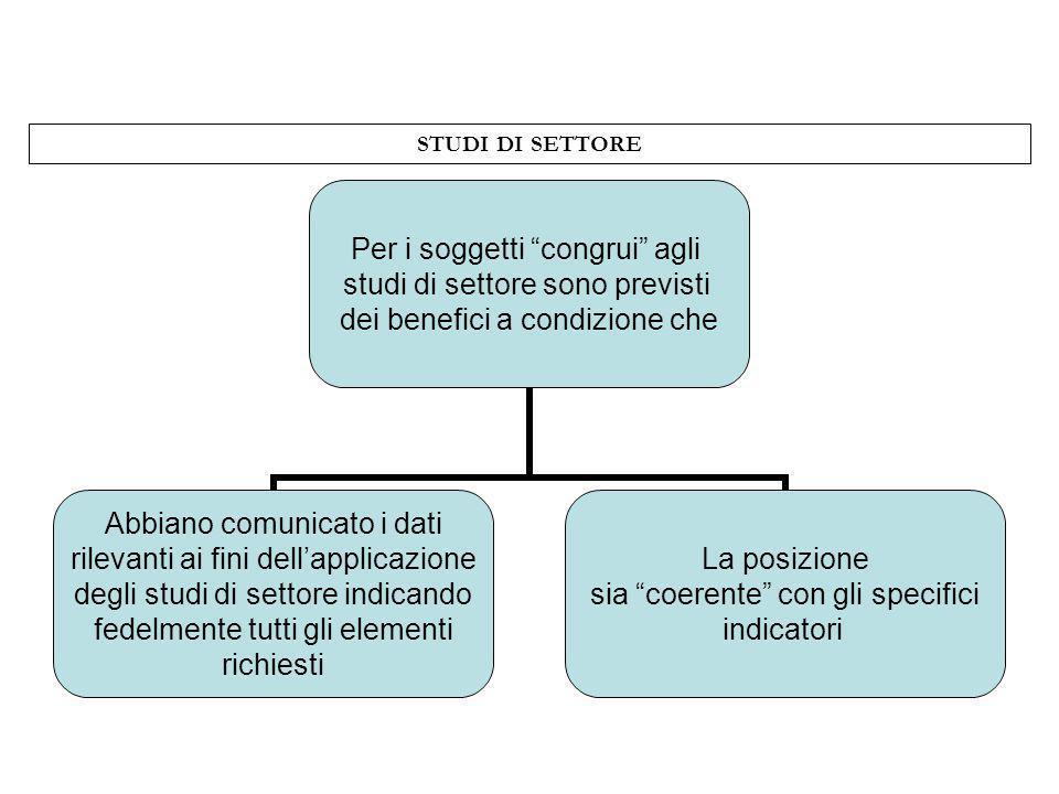 STUDI DI SETTORE 7