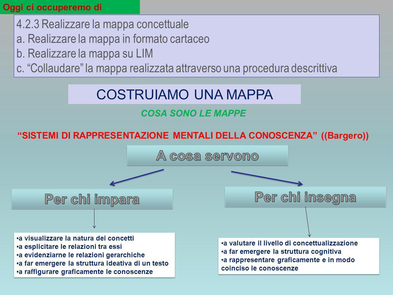 SISTEMI DI RAPPRESENTAZIONE MENTALI DELLA CONOSCENZA ((Bargero))