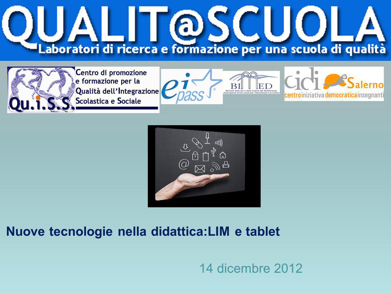 Nuove tecnologie nella didattica:LIM e tablet