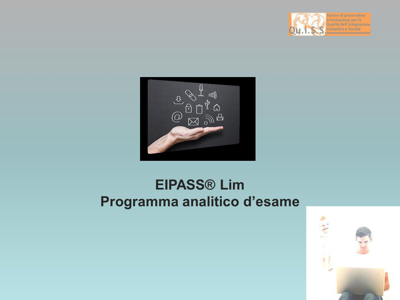 Programma analitico d'esame