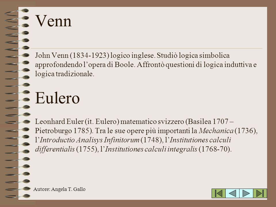 Venn John Venn (1834-1923) logico inglese