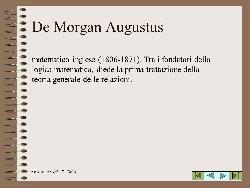De Morgan Augustus
