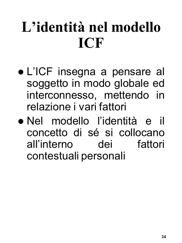 L'identità nel modello ICF