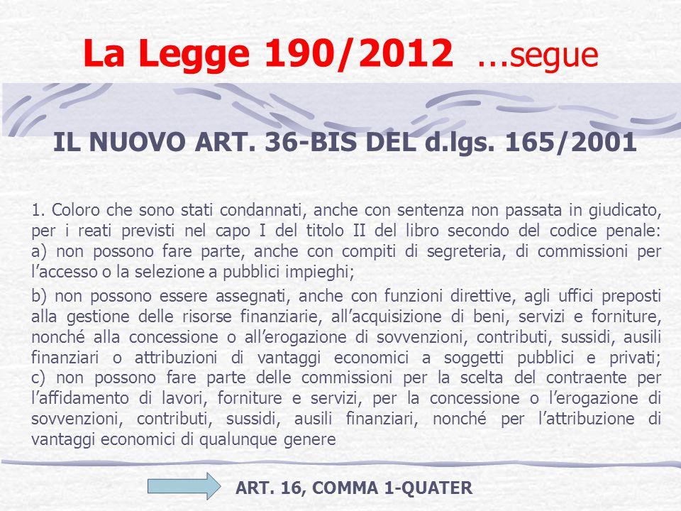 IL NUOVO ART. 36-BIS DEL d.lgs. 165/2001