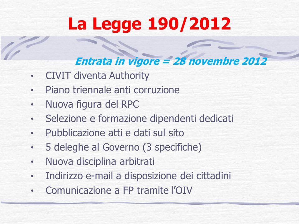 Entrata in vigore = 28 novembre 2012