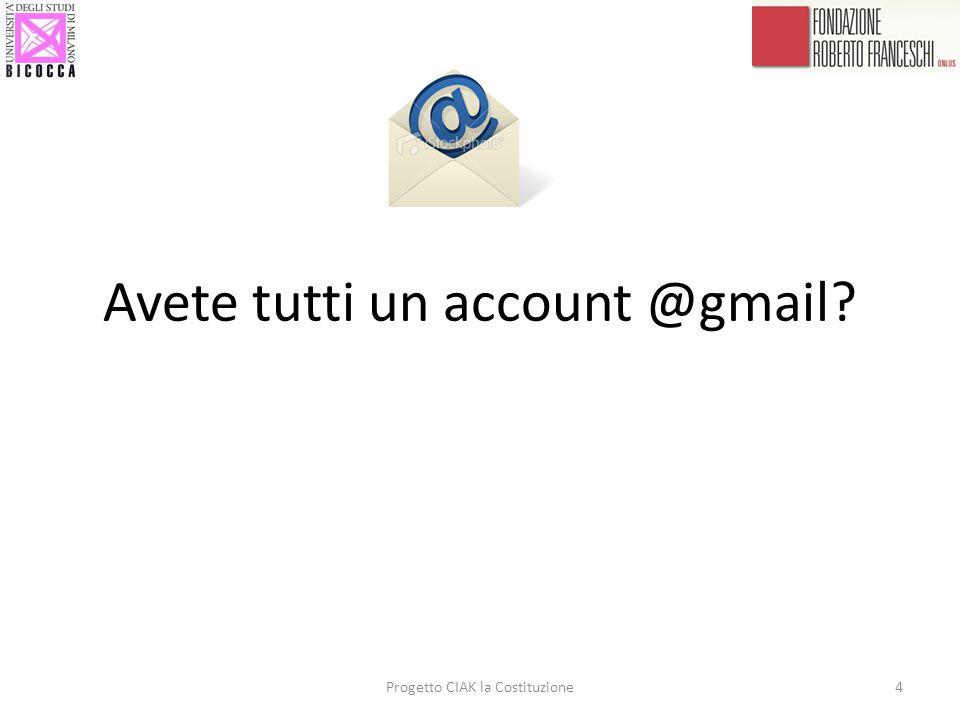 Avete tutti un account @gmail