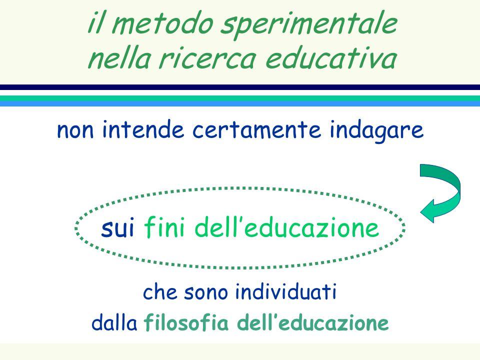 il metodo sperimentale nella ricerca educativa